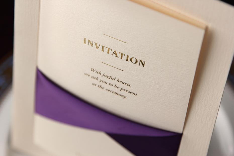 Purple Ribbon Invitation Cards 2017 New Invitations Wedding High End Business Dx3153 On Aliexpress Alibaba Group