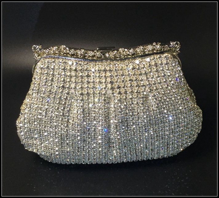 2016 New Top Grade Quality Rhinestone Clutch Bag Bling Bling Luxurious Rhinestone Evening Bag new dji top