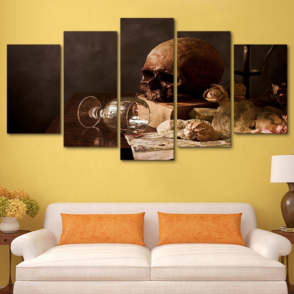 HD Home Decoration Modern Wall Art Pictures Posters 5 Panel Baroque ...