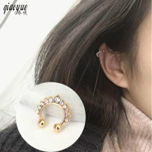 American Jewelry Simple Retro All-match Crown Type U Personality Of Male And Female Ear Clip Wholesale Free Shipping