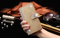 Dower Me Super Luxury Bling Diamond Flip Leather Mobile Phone Case For IPhone 7 6 6S