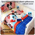 Promotion! 6/7pcs Mickey Mouse Baby sheet baby bedding set 100% cotton baby nursery bedding,120*60/120*70cm