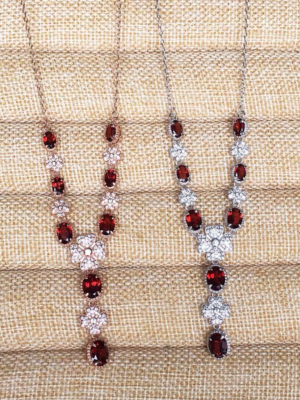 Natural red garnet stone Necklace natural olivine Pendant Necklace S925 silver trendy Luxury Snowflakes star women party JewelryNatural red garnet stone Necklace natural olivine Pendant Necklace S925 silver trendy Luxury Snowflakes star women party Jewelry