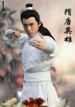 (GZ06002) Hanfu tang suit costume male white clothes tang suit costume Chinese traditional costume