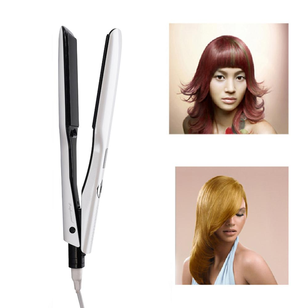 3D Rotating Hair Straightener Professional PTC Hair Styling Iron Fast Heating Flat Iron with Wide Heating Plate and LCD Screen