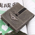 New Fashion Special Design PU Leather Men Wallets Vintage Short Zipper Money Wallet Man Clutch Carteira Coin Purse ID Holder