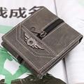 New Fashion Special Design PU Leather Men Wallets Vintage Short Zipper Money Wallet Man Clutch Carteira Coin Purse ID Holder