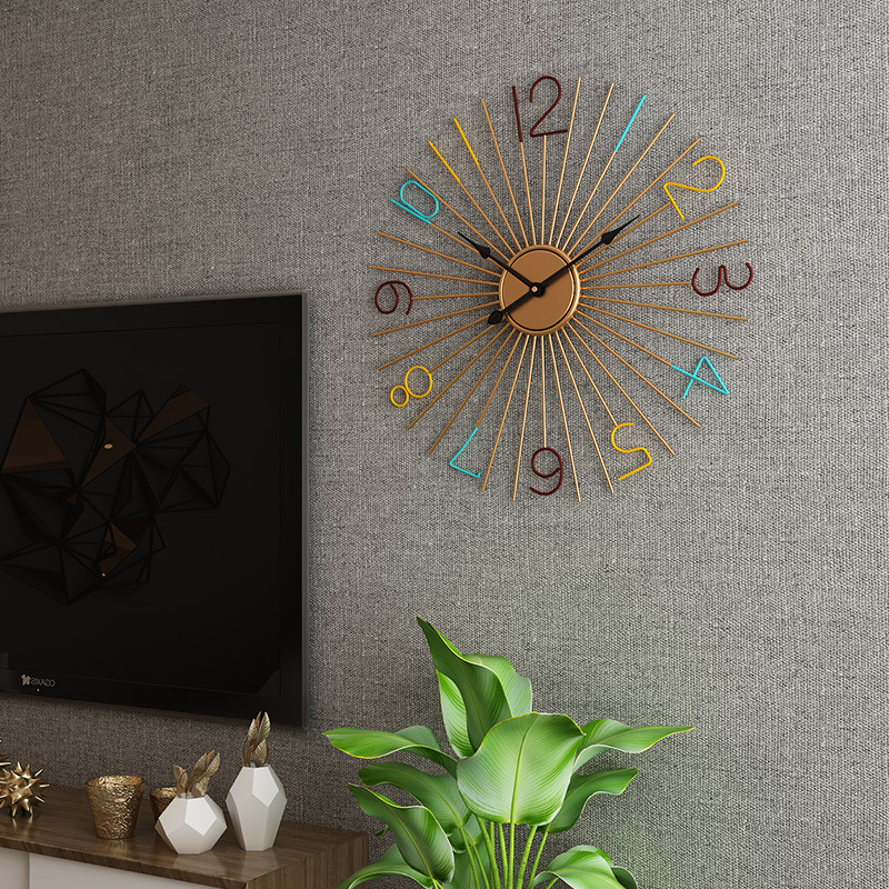 60 Cm Large Metal Wall Clock Modern Design Decorative Bar Cafe Creative Nordic Big Hanging Clocks Iron Art Wall Watch Home Decor