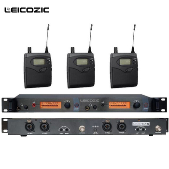 Leicozic SR2050 IEM Professional UHF Wireless In Ear Headphones Monitor System 3 Pieces receivers 150M stage in ear monitors