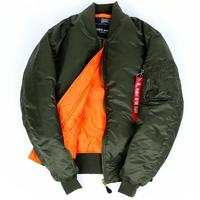 Plus Size US Air Force Pilot Ma1 Bomber Flight Jacket For Men Army Green Military Varsity