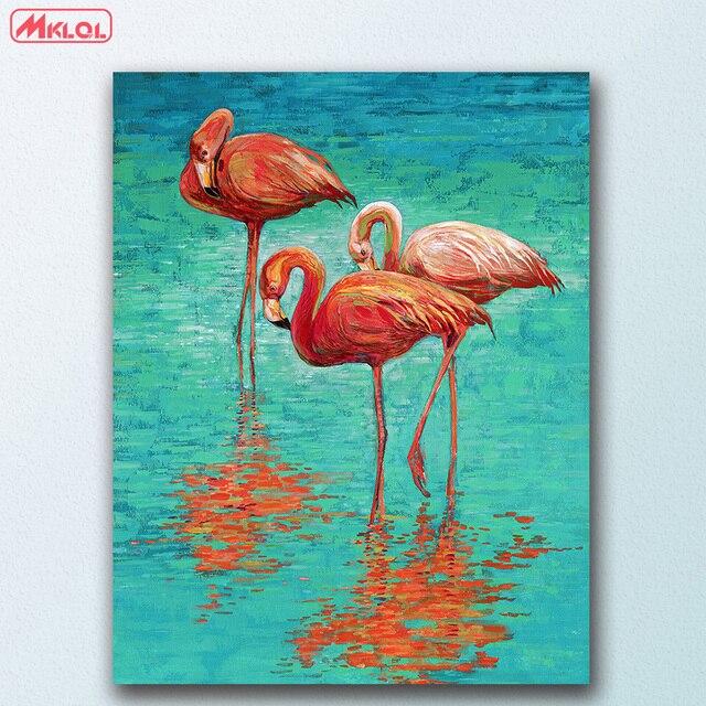 Duży Rozmiar Flamingi ściany Pop Art Canvas Malarstwo Do Salonu Home