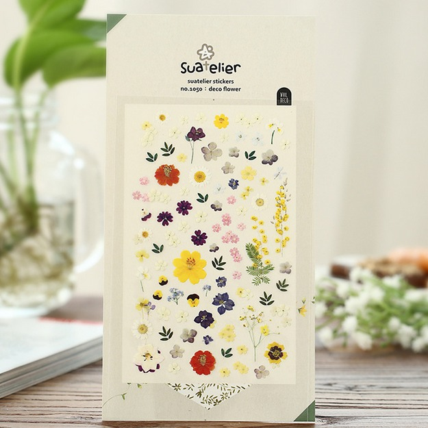 1PC Vintage flowers series stickers for notebook diary stationery  scrapbooking sticker material School supplies (tt-1797)