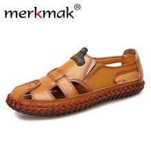 merkmak New Casual Men Soft Sandals Comfortable Men Summer L