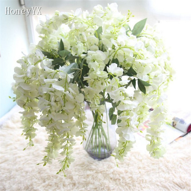 Weiß Lila Blume Vine Hänge Garland Brautstrauss Brautblumensträuße ...