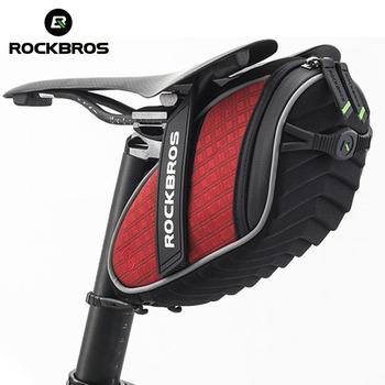 ROCKBROS torba na rower przeciwdeszczowa torba na siodełko do roweru górskiego MTB Accessorie odblaskowa odporna na wstrząsy torba rowerowa tylna sztyca tanie i dobre opinie CN (pochodzenie) Z poliestru odporne na deszcz D C16 3D Shell Rainproof Reflective Light Hook Bicycle bag Bike bag Saddle bag Seatpost bag Tail bag Rear bag