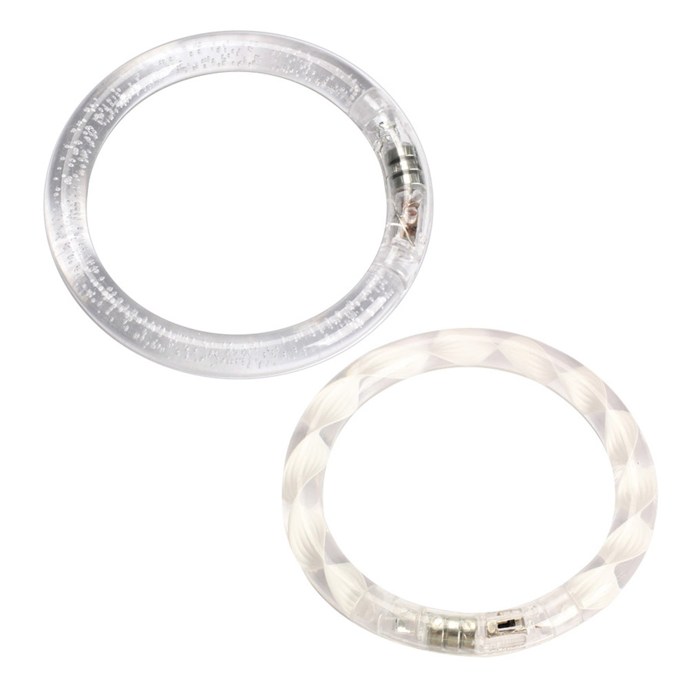 Transparent Texture/Bubble LED Flashing Color Changing Bracelet Glow Bracelet @Z83
