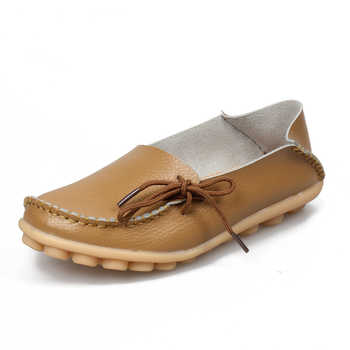 Women Flats Real Leather Ladies Flat Shoes Moccasins Mother Loafers Soft Leisure Shoes Driving Casual Ballet Footwear