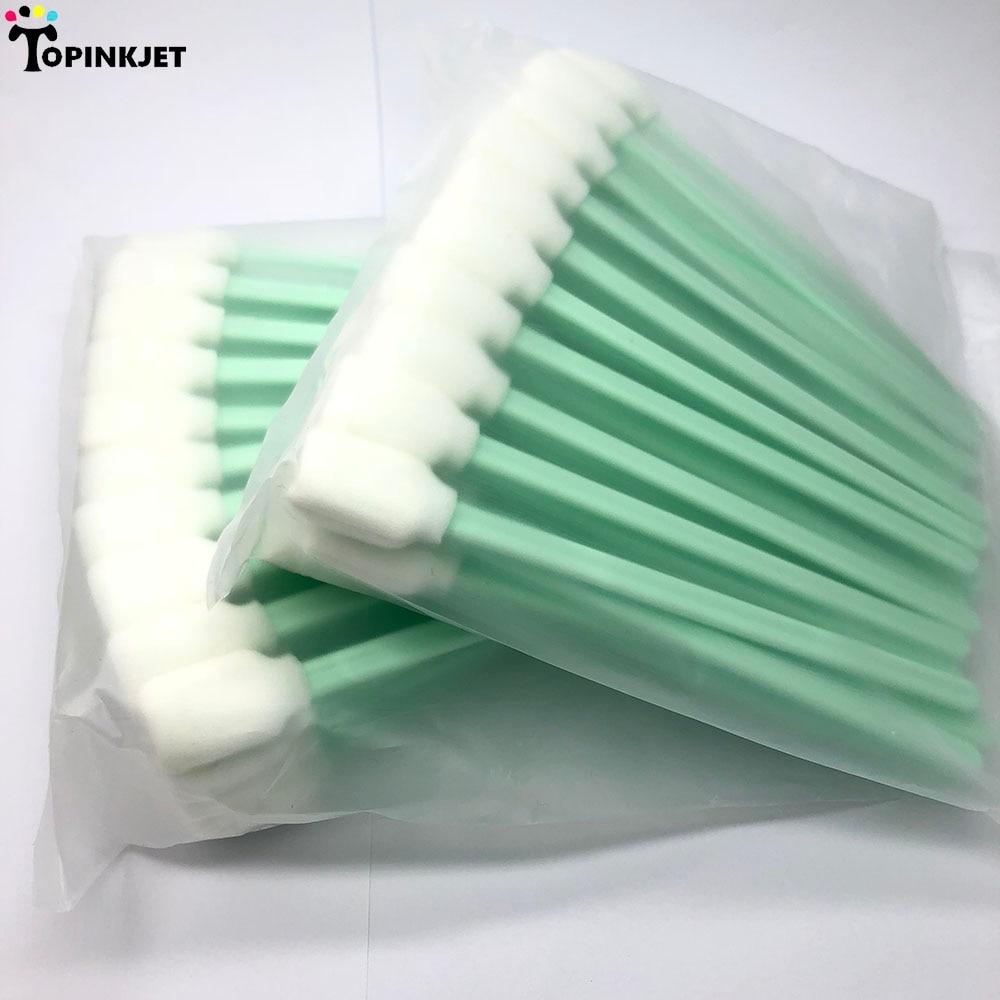200 adet Yazıcı Temizleme Swablar Solvent Köpük Uçlu Temizleme Sünger Sopa çubuğu Epson Roland Mimaki Mutoh Yazıcı|printer cleaning swabs|cleaning swabssponge stick - AliExpress