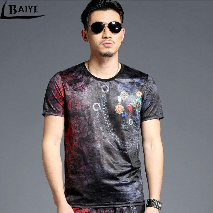 TBAIYE Moda de lujo Nueva camiseta ocasional de algodón Hombres - Ropa de hombre - foto 4