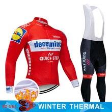 4 colores 2019 Conjunto de Jersey de Ciclismo de equipo de Bélgica ropa de bicicleta de invierno para Hombre Ropa de Ciclismo de lana térmica