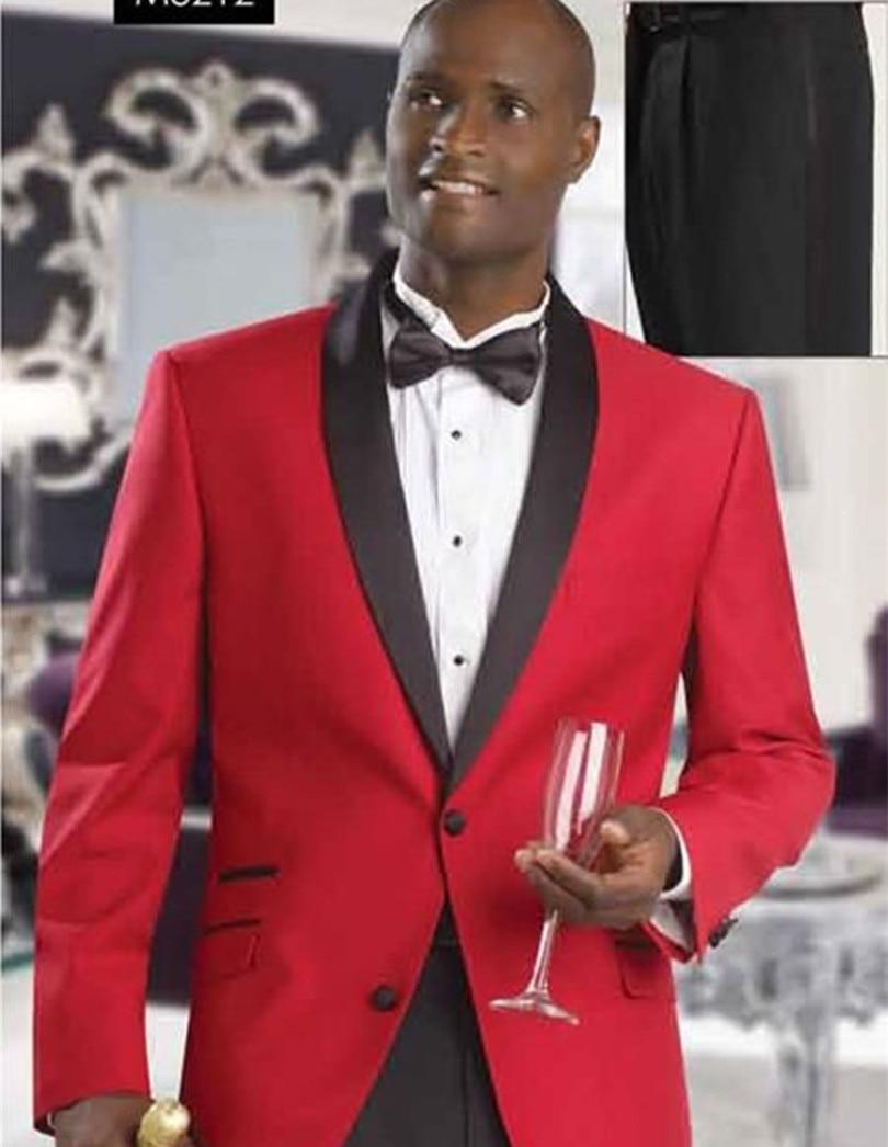 Nueva moda para el novio africano esmoquin de solapa chal trajes de - Ropa de hombre - foto 4