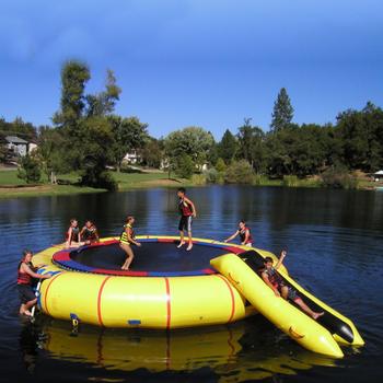 Duży odkryty zabawki wodne nadmuchiwana trampolina wodna dla dzieci sprzęt do parku wodnego wodna trampolina nadmuchiwany model tanie i dobre opinie 8 lat Woda spaceru piłkę DINGYURUI water park Entertainment Amusement Park Avaliable Customized Included 110-120V 220-240V