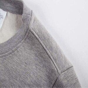 Image 5 - القهوة المر نوي الشتاء عالية الجودة موسكو هوديس الروسية هوديس Camiseta طويلة الأكمام بلوزات حجم كبير