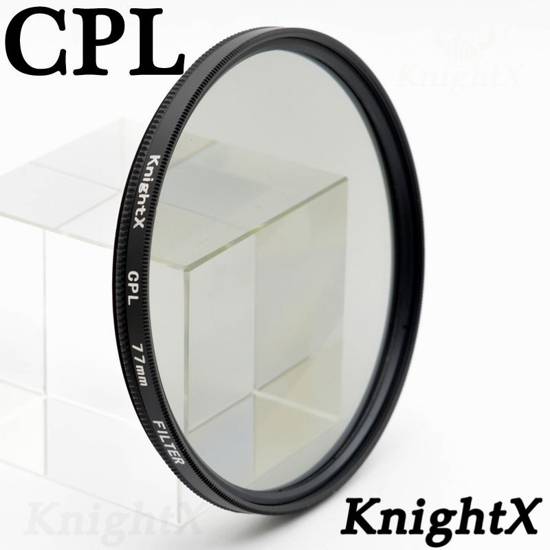 KnightX 49 52 55 58 62 67 77 mm FLD UV CPL lens Filter for nikon Canon Sony lens accessories camera d5200 d3300 canon 52mm 58mm in Camera Filters from Consumer Electronics