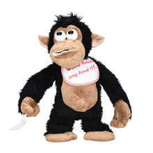 HIINST Novelty Funny Crazy Crying Monkey Electronic Stuffed Plush Toy Tricky Doll For Kids As a Gift(China)