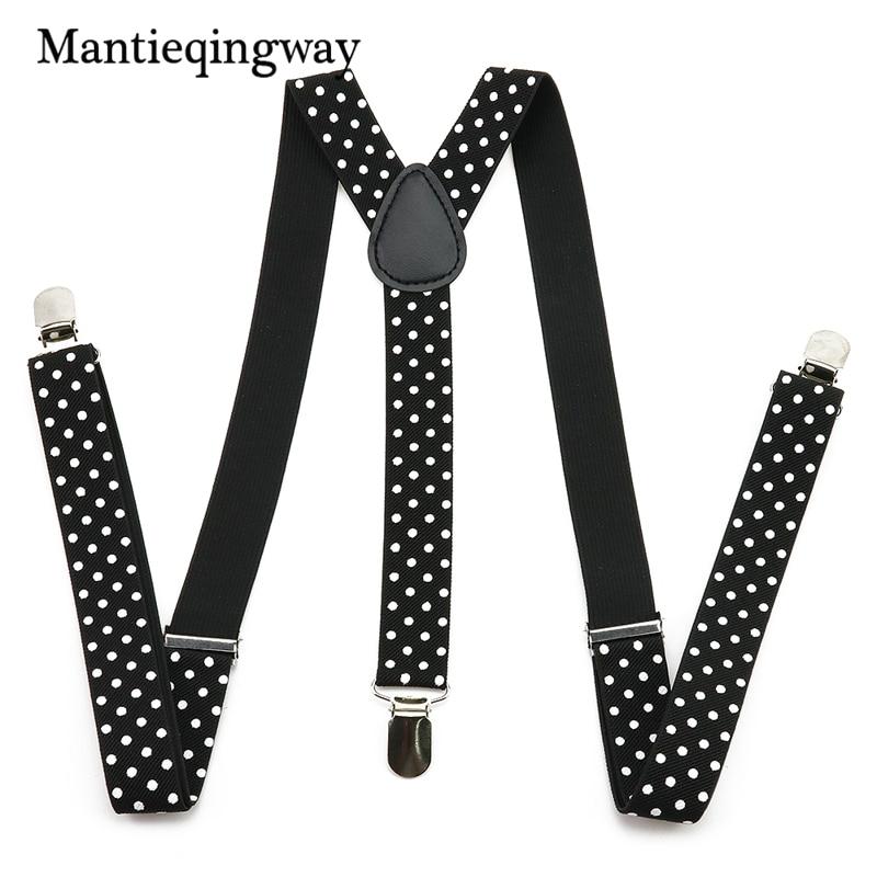 Mantieqingway Unisex Suit Braces Galluses With 3 Clip Mens Adjustable Suspenders Casual Elastic Straps For Women Shirt Garters