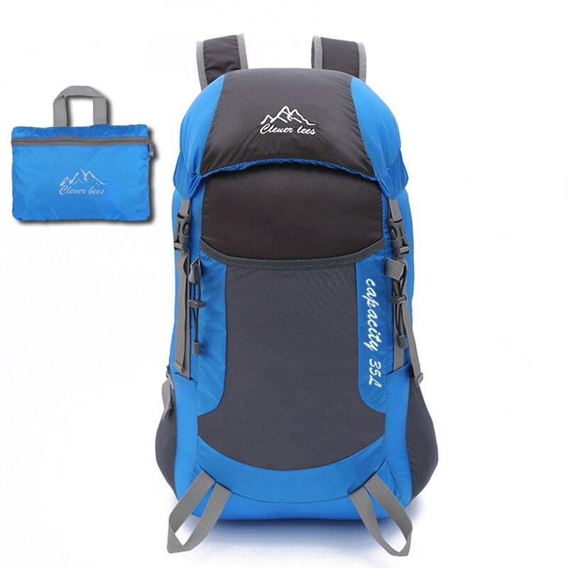 Prix pour Pliable sac ultra-léger randonnée sac à dos en plein air escalade poche sac grande taille voyage