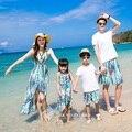 2017 areia da praia bohemain camiseta vestidos de mãe e filha roupas família correspondência clothing família olhar 177jy
