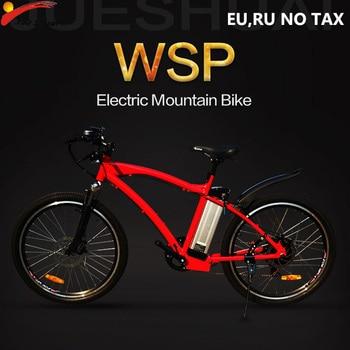 JS-bicicleta eléctrica de aluminio con Motor potente, bici de montaña, 48V, 12ah,...