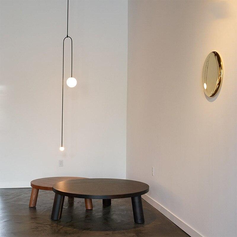 Nordic Pendant Lights Bedroom Bedside Lamp Designer modern Creative Geometric Lines Clothing Store Suspension Lamps