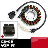 For Yamaha YZF R1 2002 2003 Engine Stator Coil and Voltage Regulator Kits Motorcycle Replacement Accessories Rectifier YZF R1