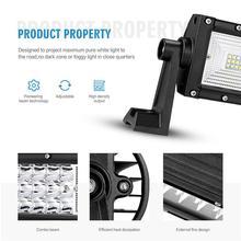 Oslamp 42″ 594W 3-Row Curved LED Light Bar Offroad Combo Beam+2x18W Spot Flood Led Work Light Bar 12v 24v Truck SUV ATV 4WD 4×4