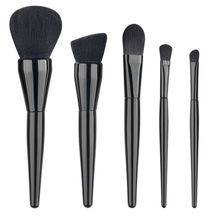 5PCS Professional Superior Soft Wool Noble Black Make Up Brushes High Quality Synthetic Hair Foundation Powder Brush Kits