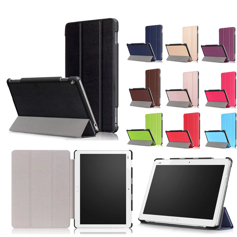 M3 lite 10 Case for Huawei MediaPad M3 Lite 10 Cover Shell PU Leather Tri-fold Stand Table