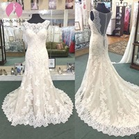 Custom Made Bridal Dress Wedding Gown Mermaid Wedding Dresses Vintage Turkey 2019 Appliques Lace Vestidos De Noiva Plus Size