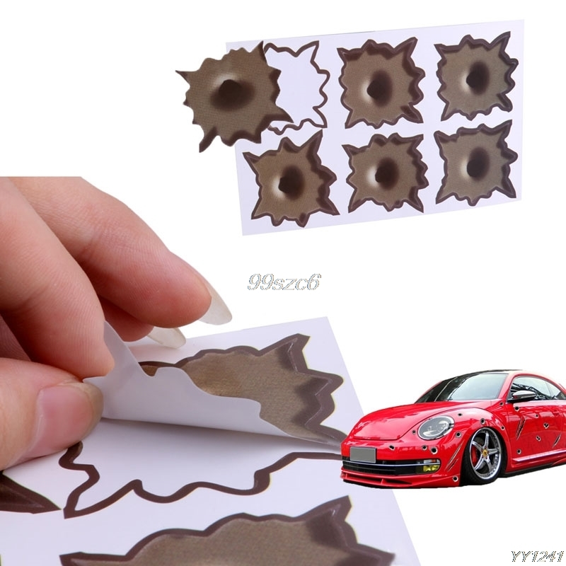 Bullet Hole Shot Hole Sticker Funny Decal For Car Laptop Window Mirror DropShip