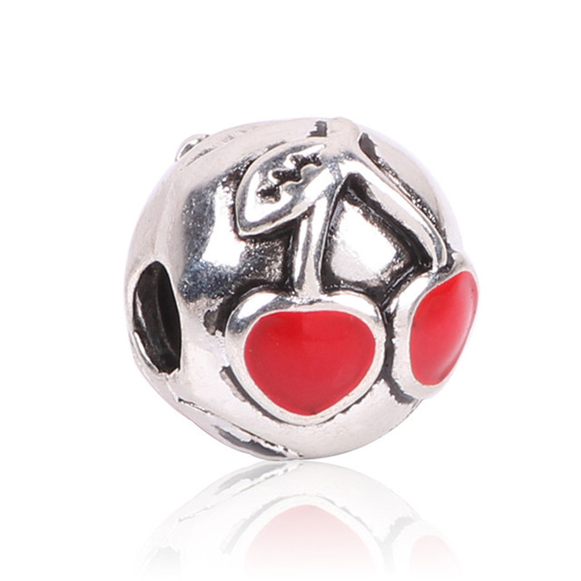 Free Shipping New Cherry Clips Locks Beads Stopper Bead Charm European Fit Pandora Bracelets