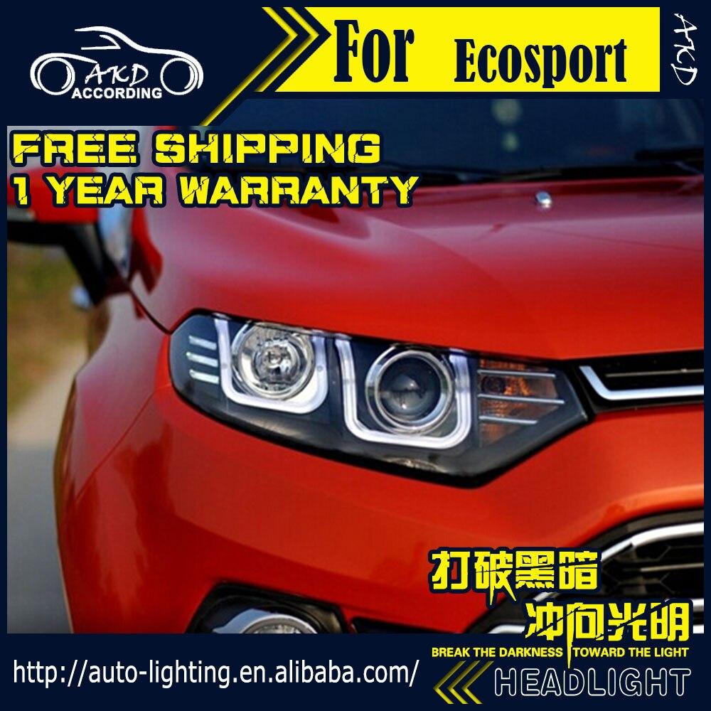 AKD Car Styling Head Lamp for Ford Ecosport Headlights 2014-2016 LED Headlight DRL H7 D2H Hid Option Angel Eye Bi Xenon Beam givenchy 2014 12g 2 7