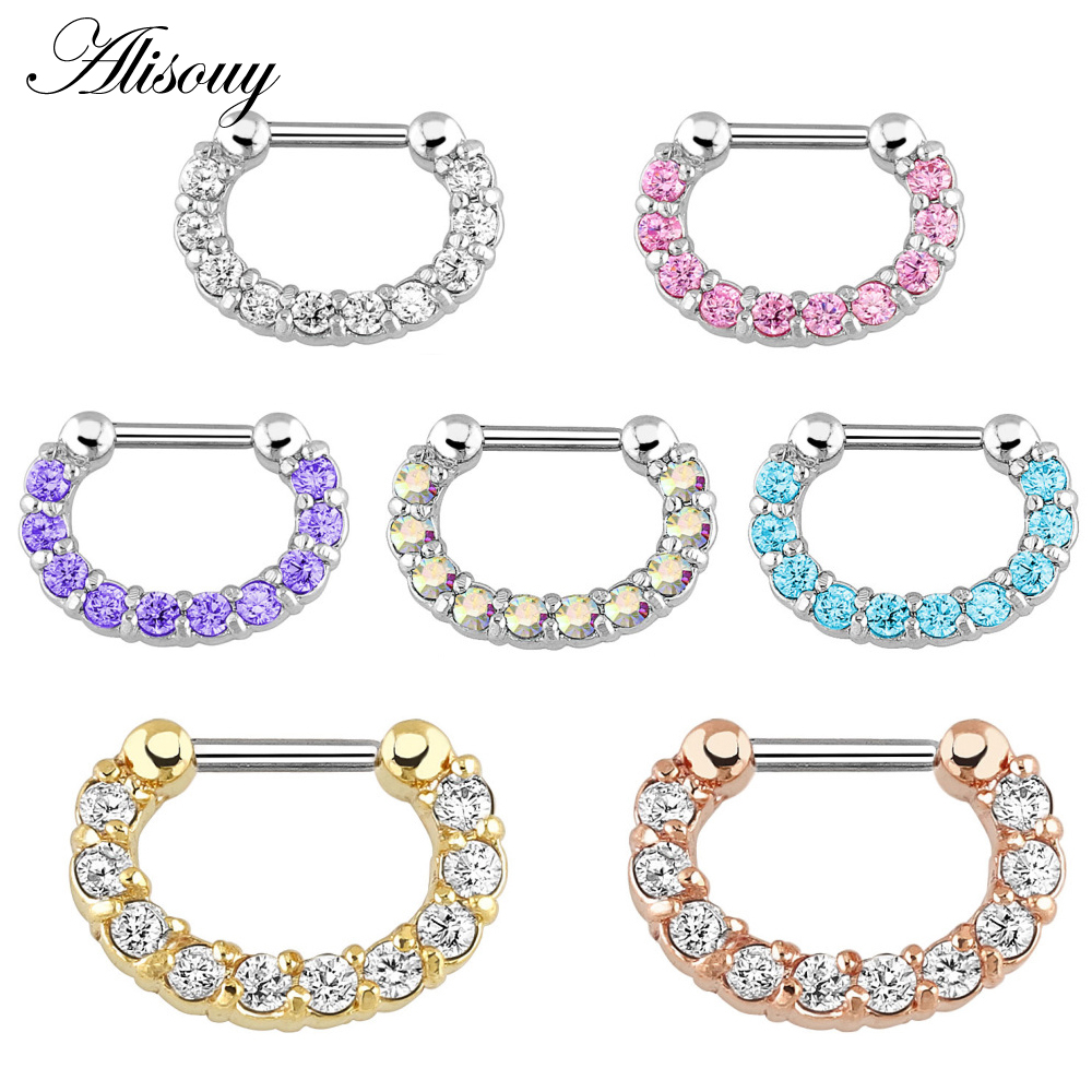 Fashion Unisex Surgical Steel Septum clicker Nose Ring Hoop Piercing Jewelry