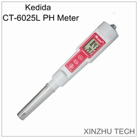 CT 6025L Pen pH meter instruction manual 0.00~14.00PH intelligent backlight sensing technology automatically