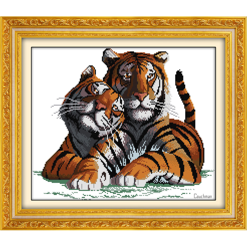 Everlasting love Fall in love Chinese cross stitch kits Ecological cotton stamped printed DIY 11CT New year decorations for home