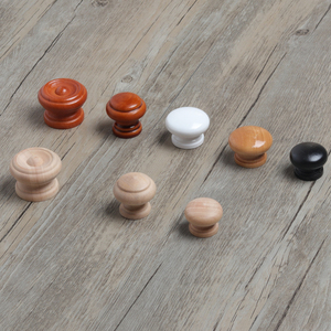 Image 1 - 10 cái/lốc Gỗ Knobs Bằng Gỗ Nội Drawer Xử Lý Tủ Quần Áo Cửa Kéo Xử Lý cho Đồ Nội Thất Caninets Tay Cầm Bằng Gỗ với các Ốc Vít