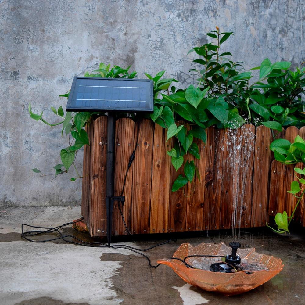 SP025 Design moderne maison jardin décoration Mini solaire alimenté panneau solaire fontaine piscine jardin arrosage pompe