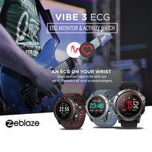 2019 New Zeblaze VIBE 3 ECG Smart Watch Heart Rate Monitor Wristband Sport Bracelet 1.2'' Fashion sports smart watch hot sale(China)