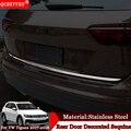 Автомобильный Стайлинг задний бампер Защита задний багажник Накладка Блестки для Volkswagen Tiguan 2017 2018