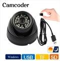 Câmera Dome IR CCTV Câmera de segurança Night Vision Auto registro de Condução de Carro de Armazenamento de Cartão De Memória De Vídeo Gravador DVR USB